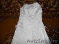 свадебное платье-атласное